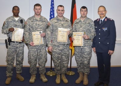 Colonel Kunze with the S Army and Military Police