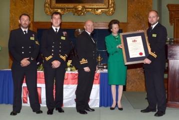 Deutscher Marinepilot was awarded by Princess Anne of Great Britain Oct.2014
