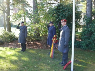 The Defence Attaché Brigadier General Hein in UK Remembrance day ceremony November 2014