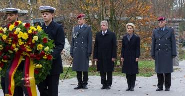 Bundespraesident Gauckand,Defence Minsier Dr. Ursula von der Leyen November 2014