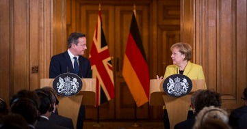 Chancellor Angela Merkel and British Prime Minister David Cameron 2015