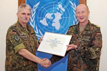 Generalmajor Walter Spindler mit Oberst Reinhard Barz, 2014