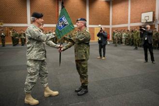 US Lieutenant General John Nicholson with Lieutenant General Volker Halbauer of die Bundeswehr,Janurary 2015
