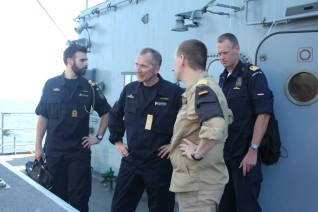 Commander, Rear Admiral Haggren, visited German Navy frigate, FGS Bayern February 2015
