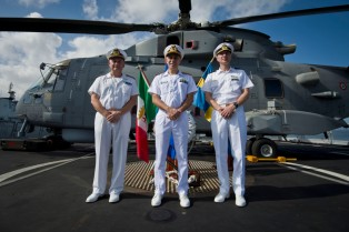 The new Commander of EU Naval Force Rear Admiral Jonas Haggren of (right)February 2015
