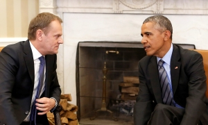 President of the European Council Donald Tusk - President Obama, Washington DC 2015