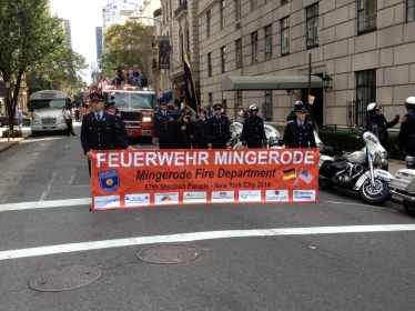 Gen. von Steuben parade in NY City 2014