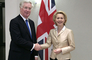 Defence Secretary Michael Fallon and German Defence Minister Dr Ursula Von der Leyen UK GOV