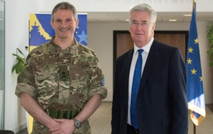 Major General Martin Smith the UK Secretary of State for Defence Michael Fallon Janurary 2016