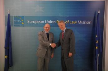 U.S. Ambassador to Kosovo Greg Delawie visited EULEX Headquarters 2015