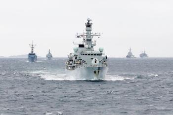 UK RN in NATO excercise Norway 2016