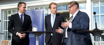 Kristian Jensen, Børge Brende and Timo Soini 2016
