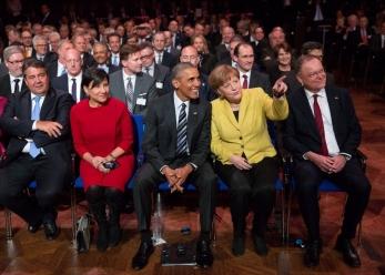President Obama and Chancellor Dr. Merkel in Hannover Messe April 24, 2016 -