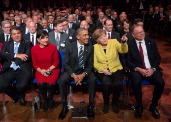 President Obama and Chancellor Dr. Merkel in Hannover Messe April 24, 2016 -