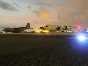 """Die P-3C """"Orion"""" kurz vor dem Start in Djibouti BW 2016"""