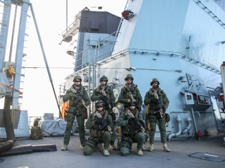 Royal Dutch Marines on the Frigate Bayern June 2015 EU NAVFOR