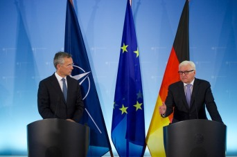 Joint press point with NATO Secretary General Jens Stoltenberg and the German Minister of Foreign Affairs Frank-Walter Steinmeier